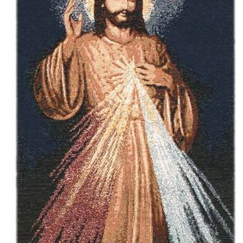 The Divine Mercy Religious Bell Pull Tapestry Wall Hanging