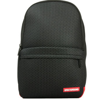 Hexagon Mesh Cargo Black Backpack (SPRAYGROUND)