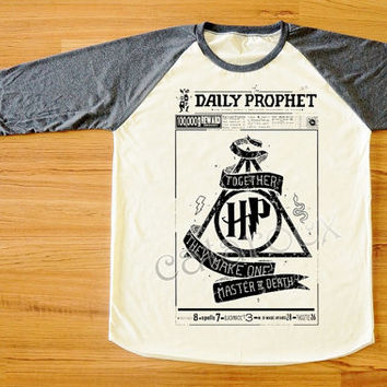 The Daily Prophet News Harry Potter Shirt Deathly Hallows Shirt Long Sleeve T-Shirt Women Shirt Men Shirt Unisex Shirt Baseball Shirt S,M,L