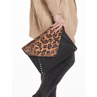 Queen of the Jungle Leopard Envelope Clutch