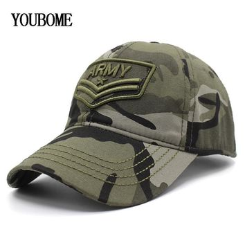 Trendy Winter Jacket YOUBOME Baseball Cap Hats For Men Camouflage Brand Army Snapback Caps Women MaLe Vintage Embroidery Casquette Bone Dad Hat Caps AT_92_12