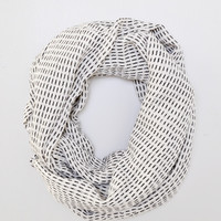 White Dash Scarf