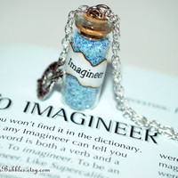 IMAGINEER Magical Necklace with a Paint Palette Charm, Walt Disney the First Imagineer, by Life is the Bubbles