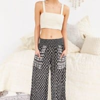Band Of Gypsies Double Pocket Wide-Leg Pant-