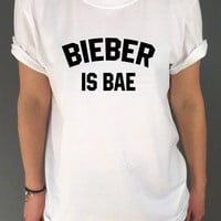 Justin Bieber Is Bae Unisex Tshirt for womens Tumblr Tshirt Sassy and Funny Girl Tshirt