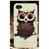 [Buy World] for Iphone 5 Owls Coffee Cup Aluminum Hard Case High Quality White Black Cofee Owl +Screen Protector + Toilet Stand:Amazon:Cell Phones & Accessories