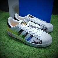 LMFONA Best Online Sale Adidas Superstar LGBT Pride Month Gay Pride Pack Casual Shoes Sport Shoes D70351