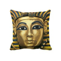 Egypt - Tutankhamun Throw Pillows from Zazzle.com