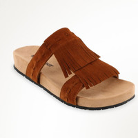 Minnetonka Daisy Brown Fringe Sandals