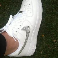 Bling Customised Crystal Nike Air Force One Sizes 6-8 from CrystalMess