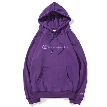 Champion Woman Men Fashion Hoodie Top Sweater Pullover