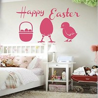 Easter Wall Art Sunday Decal Vinyl Egg Sticker Twig Kitchen Home Decals Interior Design Cafe Restaurant Decor Murals Ah130