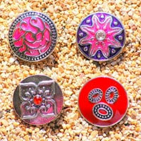 NOOSA CHARM BUTTON for  Interchangeable Button Jewelry. Snap On Button. The Price is for one unit.