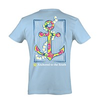 Itsa girl Thing Straight Up Southern Collection Anchor Pearls South Blue Bright T Shirt