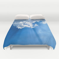 Silver lining cloud Duvet Cover by Laureenr