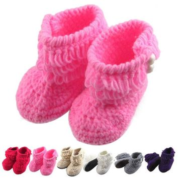 Handmade Crochet Baby Winter Booties Baby Shoes (3-9months)