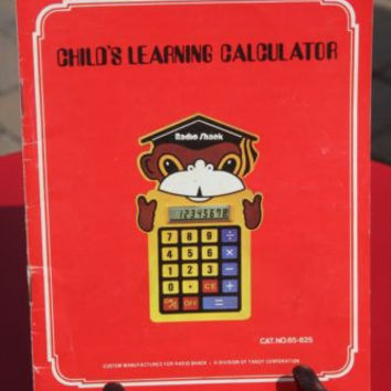 Vintage Child's Learning Calculator Small Pocket Book