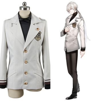 mystic messenger military uniform cosplay costume ZEN Adult Halloween custom made jacket tshirt