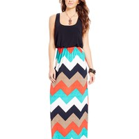 Trixxi Juniors' Blouson Maxi Dress