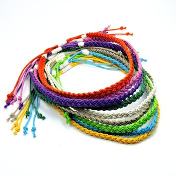 Woven Sailor Necklace, Tropical Colors