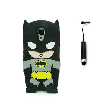 3D Cartoon Cute Lovely Stylish Batman Silicone Case for Samsung Galaxy S4 mini i9190 + Touch Stylus = 1927934340