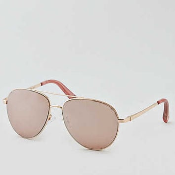 AEO Notched Temple Sunglasses , Rose Gold