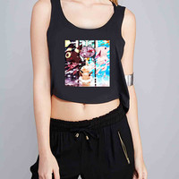 Eevee and Umbreon and Espeon. for Crop Tank Girls S, M, L, XL, XXL *NP*