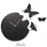 Butterfly Wall Clock with 3 butterflies