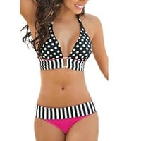 Sandistore Sexy Women's Swimwear Bikini Set Push-Up Padded Bra Swimsuit