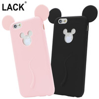 Cute Candy Colors Colorful 3D Soft Mickey Mouse Ear for iphone 6 Silicone Cartoon Phone Case for iphone 6S 6 plus 5 5S SE Fundas
