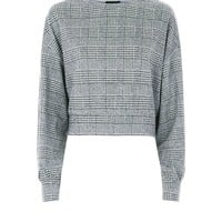 Black Dogtooth Check Cropped Jumper | New Look