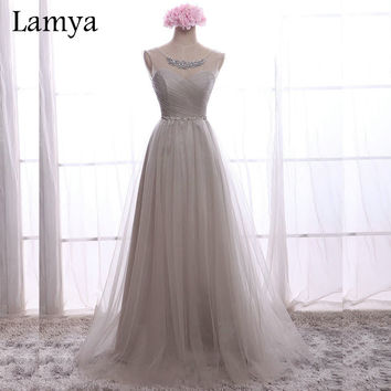 Real Sample Cheap Long White Chiffion With Crystal Bridesmaid Dresses 2016 Fashion Pink Fromal Dress Vestidos De Novia WD2616