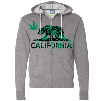 California 420 Hemp Flag Zip-Up Hoodie