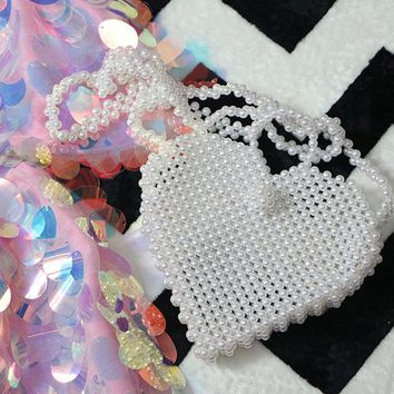 DIY Beaded Heart Shaped Bag Material