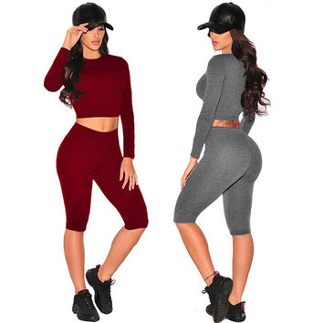 Jumpsuit Overalls Women 2017 Long Sleeve Solid Bodycon Two Piece Jumpsuit Sexy Club Slim Womens Rompers Jumpsuit Outfits