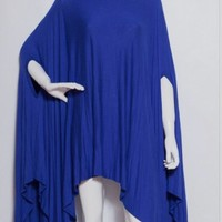 New plus Size Blue Draped Tunic Size 2XL
