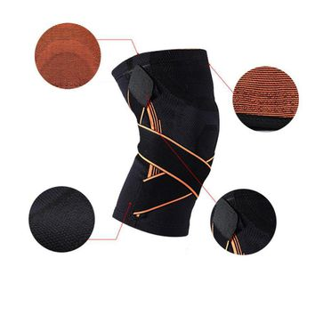 3D Weaving Knee Brace Basketball Breathable Hiking Cycling Knee Support Professional Protective Sports Knee