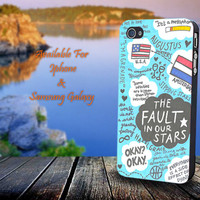 The Fault In Our Stars - John Green - Print on hard plastic for iPhone case. Please choose the option.