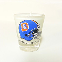 Denver Broncos Candle - Soy Shot Glass Candle - CHOICE OF SCENT