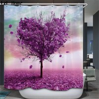 hot Bathroom Shower Curtains colore Tree Design Polyester Waterproof Bath Curtains with Hooks Bathroom Product rideau douche