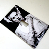 Single Toggle Light Switch Plate Cover-- Bride of Frankenstein--Halloween-Elsa Lanchester
