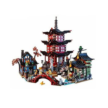 Compatible with Lego Ninjagoes 70751 06022 blocks Ninjago Figure Temple of Airjitzu toys for children building blocks