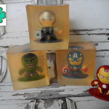 Avengers soap bar - Stock Limited, Last of Their Kind - Toy soap, Kids soap, Disney soap, Marvel soap, Thor, Captain America, Iron Man