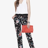 FLORAL PRINT DRAWSTRING PANT from EXPRESS