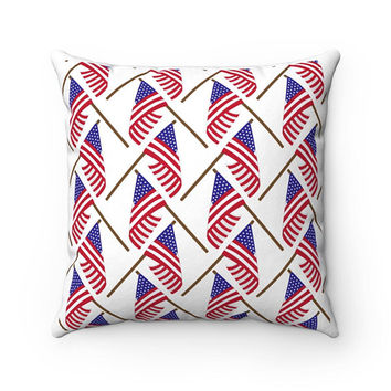 4th of july pillow 4th of july decoration Fourth of july home decor USA flag pillow American decoration Pillow with american flag
