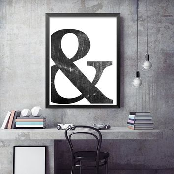 Abstract Symbol Canvas Painting Black White Nordic Scandinavian Wall Art Picture Poster Print Living Room Home Decor Unframed