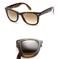 ideeli | RAY-BAN Folding Wayfarer 50mm