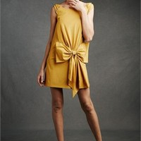 Off-the-shoulder scoop yellow chiffon Homecoming Dress HCD036