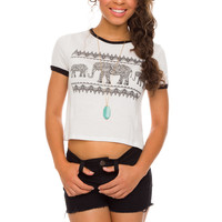 Dania Elephant Crop Top