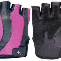 Harbinger 149 Women's Pro Wash & Dry Weight Lifting Gloves (Black/Pink, Small)